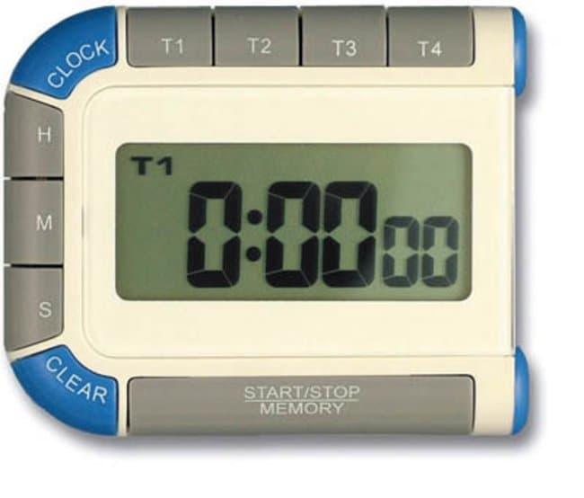 Brannan™Temporizador con cuatro valores de pantalla LCD y reloj Display Dimensions: 22 x 50mm; Weight: 61g Temporizadores de movimiento