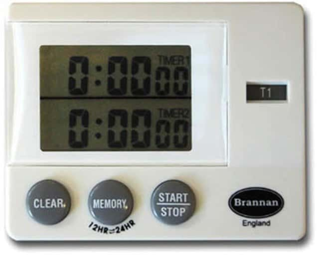 Brannan™ Dual Timer and Clock Time Range: 23 hr, 59 min, 59 sec countdown and up Motion Timers