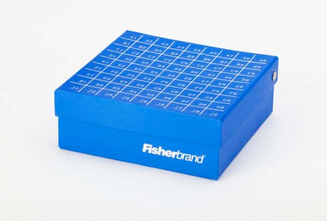 Fisherbrand Hinged Cryo/Freezer boxes  Color: Blue:Racks, Boxes, Labeling