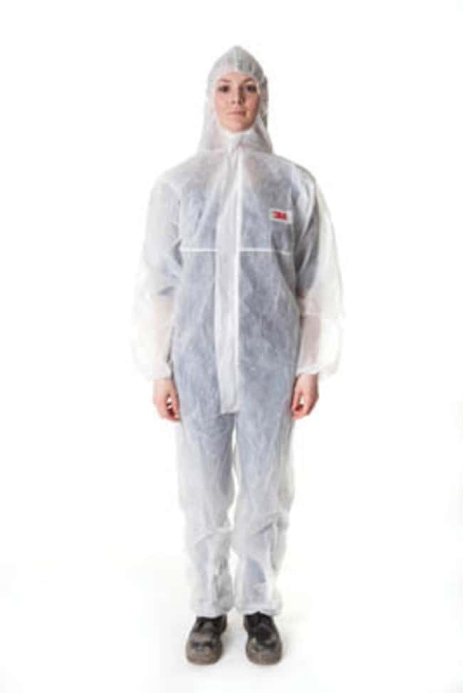3M™White Disposable Polyproplyene Coveralls, 4500 Series: Jackets and Coveralls Lab Coats, Aprons and Apparel