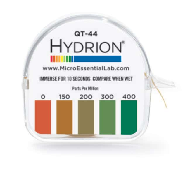 Micro Essential LaboratoryHydrion Sanitizer Test Kits Quantity: 10/Cs:pH