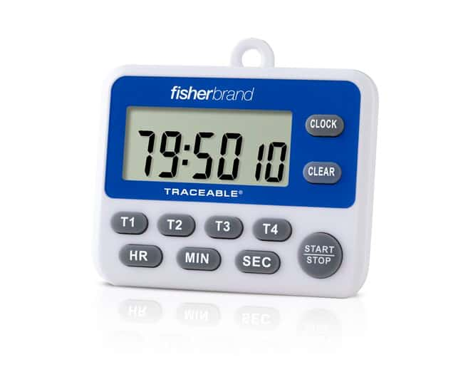 Fisherbrand Traceable 100-Hour Four-Channel Timer Length: 10.16 cm:Recorders