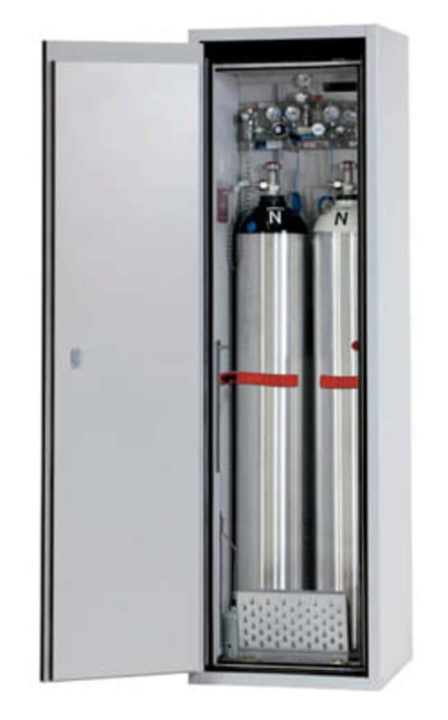 asecos™ Type 90 Gas Cylinder Cabinet G-ULTIMATE-90 Capacity: Up to 2 x 50-litre gas cylinders, Description: Standard interior equipment gas cylinders (Left-hinged) asecos™ Type 90 Gas Cylinder Cabinet G-ULTIMATE-90
