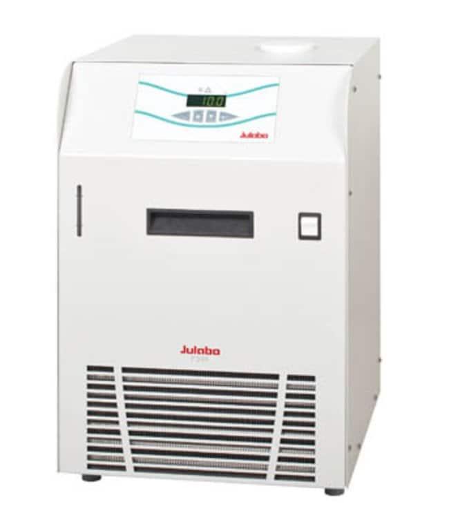 Julabo™Kälte-Umwälzthermostate mit Luftkompressor der F-Serie Capacity: 5 to 7.5L; Range: 0 to 40deg.C; Pump Flow Rate:24L/min.; Cooling Capacity: 0.25kW at 0deg.C, 0.3kW at 5deg.C, 0.4kW at 10deg.C, 0.5kW at 20deg.C Julabo™Kälte-Umwälzthermostate mit Luftkompressor der F-Serie