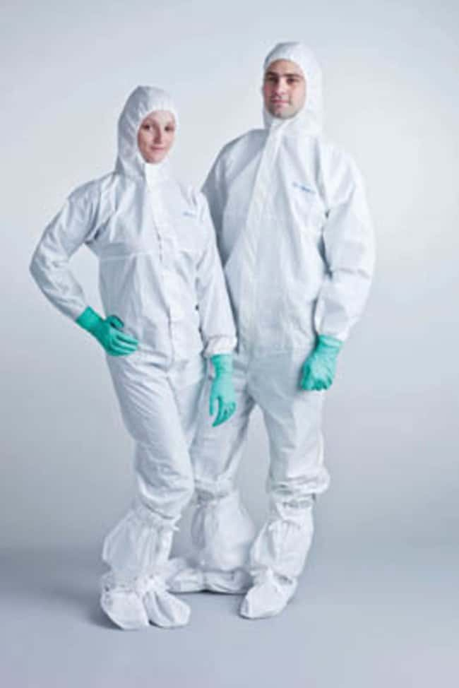 Ansell BioClean-D Sterile Disposable Coveralls with Hood and Thumb Loops:Gloves,