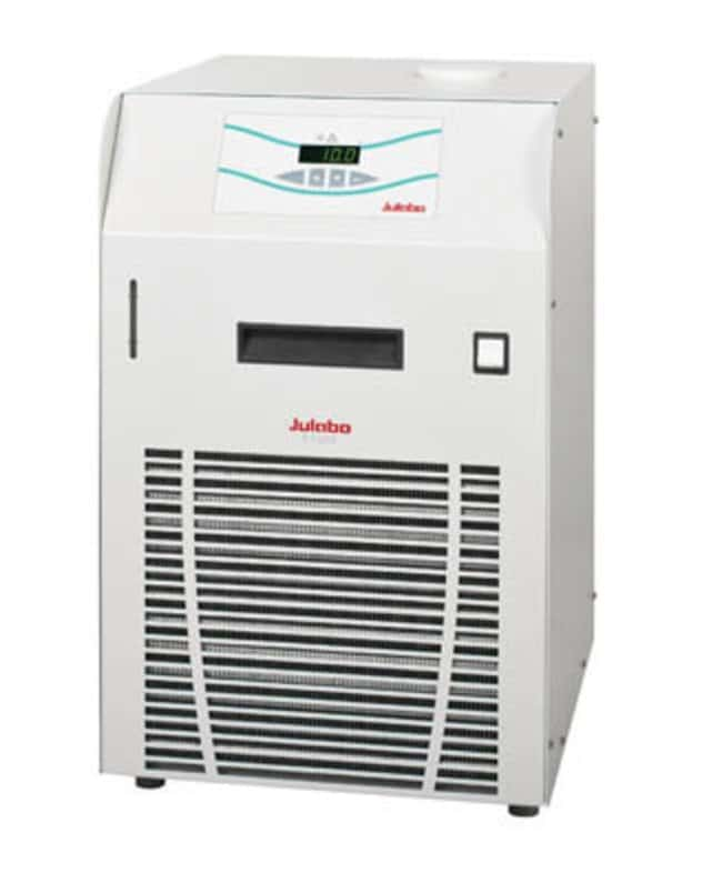 Julabo™ F Series Recirculating Cooling Baths with Air Compressor Capacity: 7 to 9.5L; Range: 0 to 40deg.C; Pump Flow Rate:23L/min.; Cooling Capacity: 0.35kW at 0deg.C, 0.55kW at 5deg.C, 0.7kW at 10deg.C, 1kW at 20deg.C Julabo™ F Series Recirculating Cooling Baths with Air Compressor