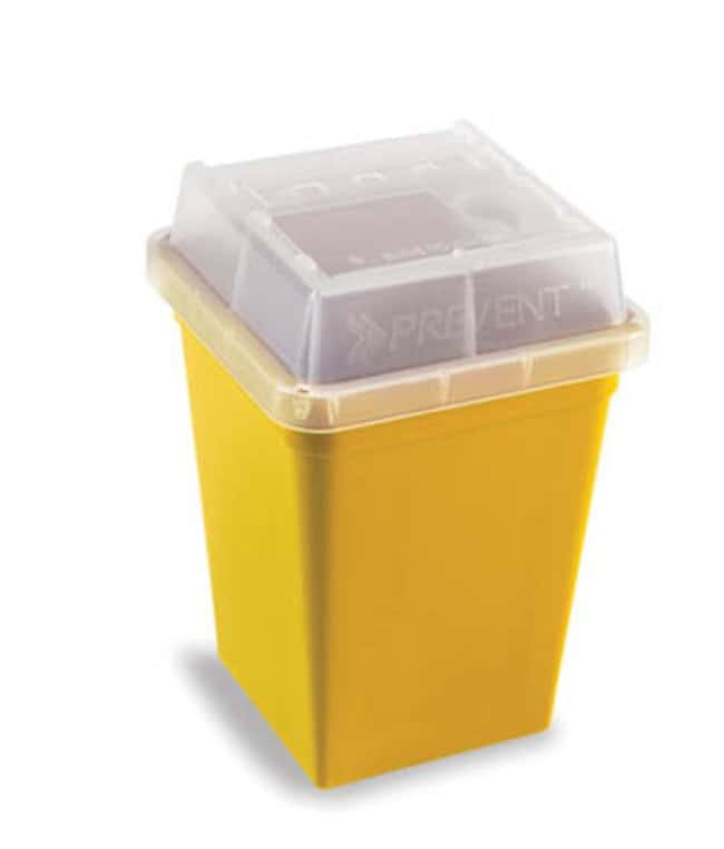 Fisherbrand™ Sharps Container with Slide Access Lid Dimensions: 115 x 115 x 192mm Sharps Disposal Containers