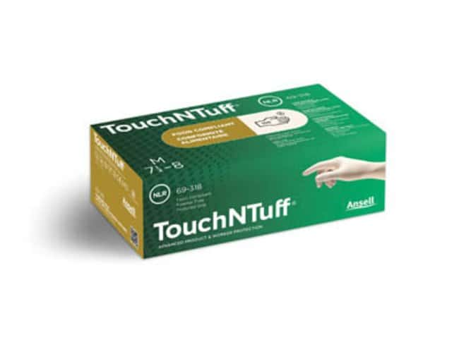 Ansell™ TouchNTuff™ 69-318 Series Lightweight Latex Exam Gloves