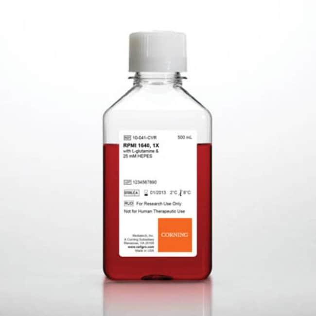Corning™cellgro™ RPMI 1640 Fassungsvermögen: 500ml: Produkttyp: Mit L-Glutamin und 25mM HEPES Corning™cellgro™ RPMI 1640