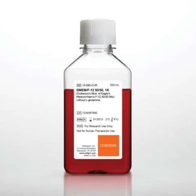 Corning™ cellgro™ DMEM/Ham's F-12 Mix w/L-Glutamine; Qty: 6 x 500mL Corning™ cellgro™ DMEM/Ham's F-12 Mix