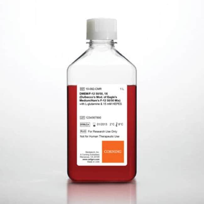 Corning™cellgro™ DMEM/Ham's F-12 Mix w/ L-Glutamine, 15mM HEPES; Qty: 6 x 1L Corning™cellgro™ DMEM/Ham's F-12 Mix