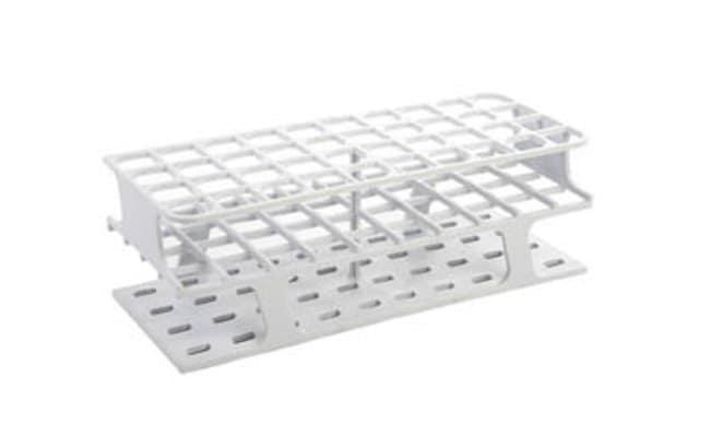 Fisherbrand™Portoirs pour tubes à essai grand format Delrin™, 40x20mm Couleur: blanc; Dimensions (LxlxH): 100x252x83mm Fisherbrand™Portoirs pour tubes à essai grand format Delrin™, 40x20mm