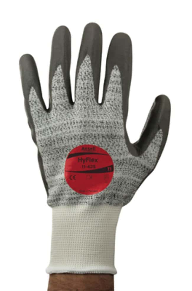 Ansell Edmont™ HyFlex™ 11-425 Series Gray and White Polyethylene Medium Weight Gloves Size: 8 Products
