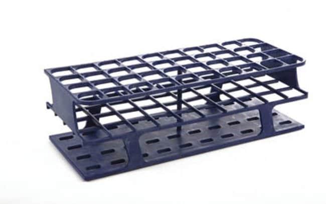 Fisherbrand™Delrin™ Full-Size Test Tube Racks, 40 x 25mm Color: Blue, Dimensions (L x W x H): 120 x 300 x 92mm Fisherbrand™Delrin™ Full-Size Test Tube Racks, 40 x 25mm