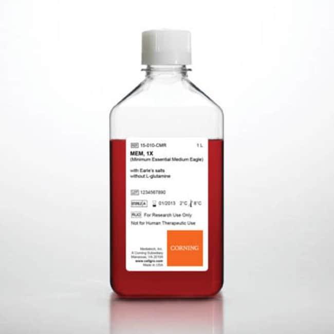 Corning™cellgro™ MEM Capacity: 1L; Product Type: With Earle's Salts Corning™cellgro™ MEM