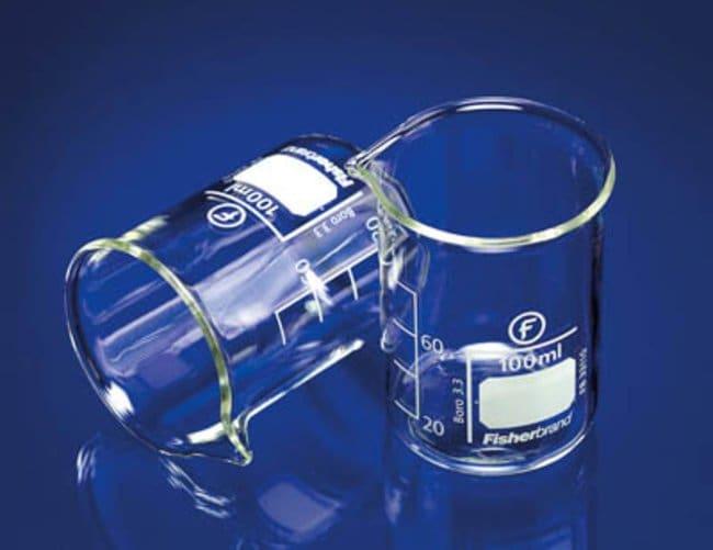 Fisherbrand™Vaso de precipitado de perfil bajo de vidrio borosilicatado con boquilla Capacity: 100mL Fisherbrand™Vaso de precipitado de perfil bajo de vidrio borosilicatado con boquilla