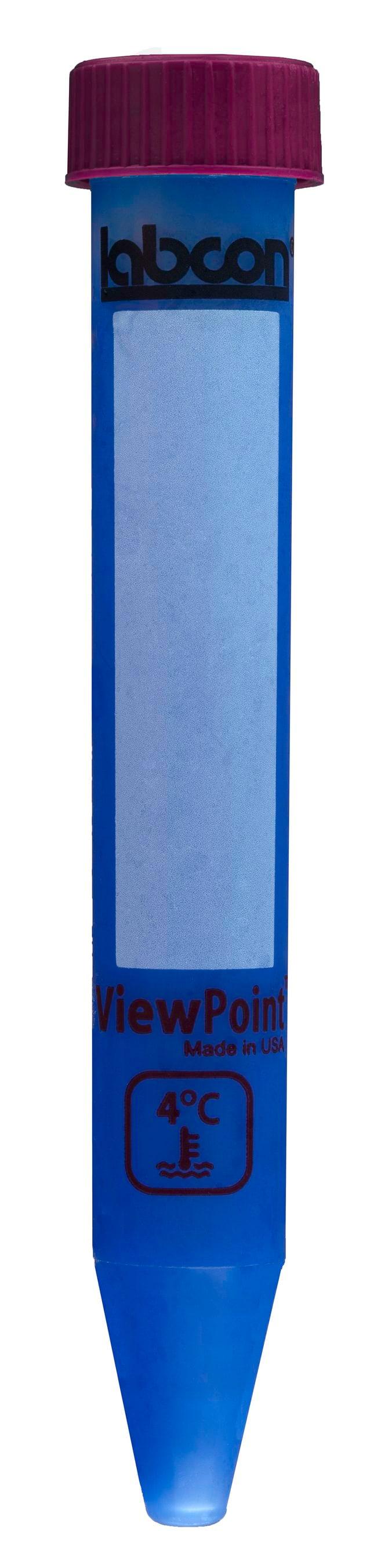 Labcon15 mL ViewPoint™ Centrifuge Thermochromic Tubes 25tubes par portoir en polypropylène réutilisable/ 2portoirs par paquet/ 6paquets par boîte; stérile Labcon15 mL ViewPoint™ Centrifuge Thermochromic Tubes