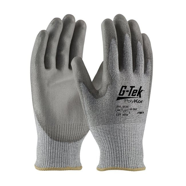 PIP G-Tek Polykor Seamless Knit Blended Gloves Glove cuff color: Sky Blue;