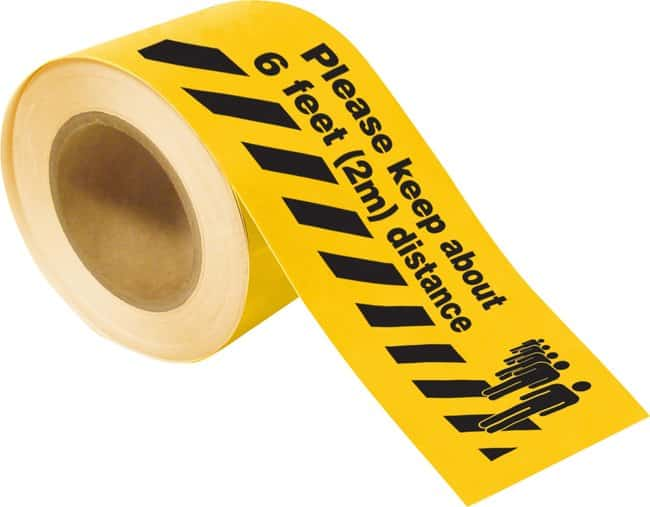 Brady Please Keep About 6 Feet (2 m) Distance Floor Marking Tape Dimensions