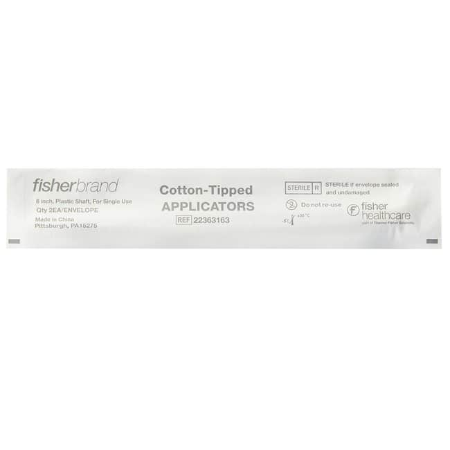 Fisherbrand Plastic Handled Cotton Swabs and Applicators Length: 6 in.;