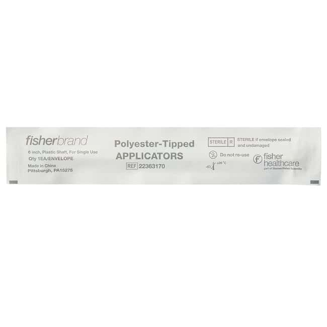 Fisherbrand Synthetic-Tipped Applicators Plastic; Sterile; Qty: 1/envelope