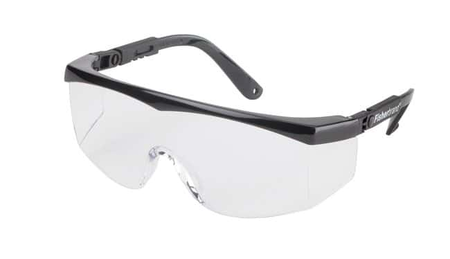 Fisherbrand Siteliner Safety Glasses, Blue frame Black frame:Gloves, Glasses