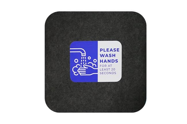 M+A Matting Sure Stride Impressions Mat, Please Wash Hands, Case of 6 Please