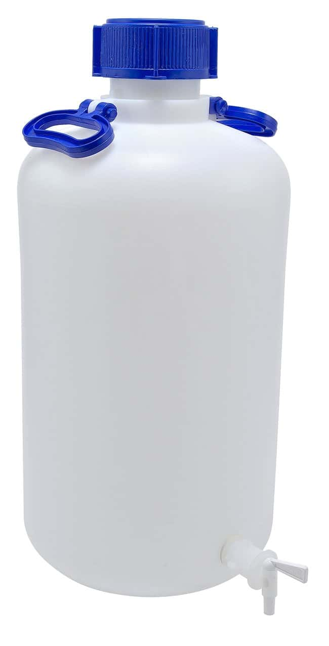 Dynalon Heavy Walled HDPE Carboys 25L capacity; 2 handles; Mouth I.D,: