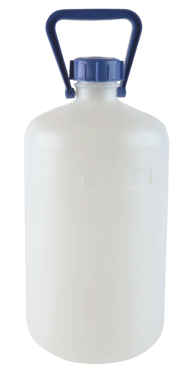 Dynalon Heavy Walled HDPE Carboys 10L capacity; 1 handle; Bottle O.D.:
