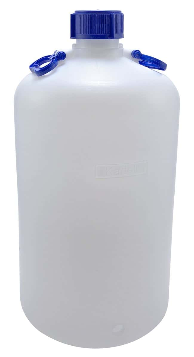 Dynalon Heavy Walled HDPE Carboys 50L capacity; 2 handles; Bottle O.D.: