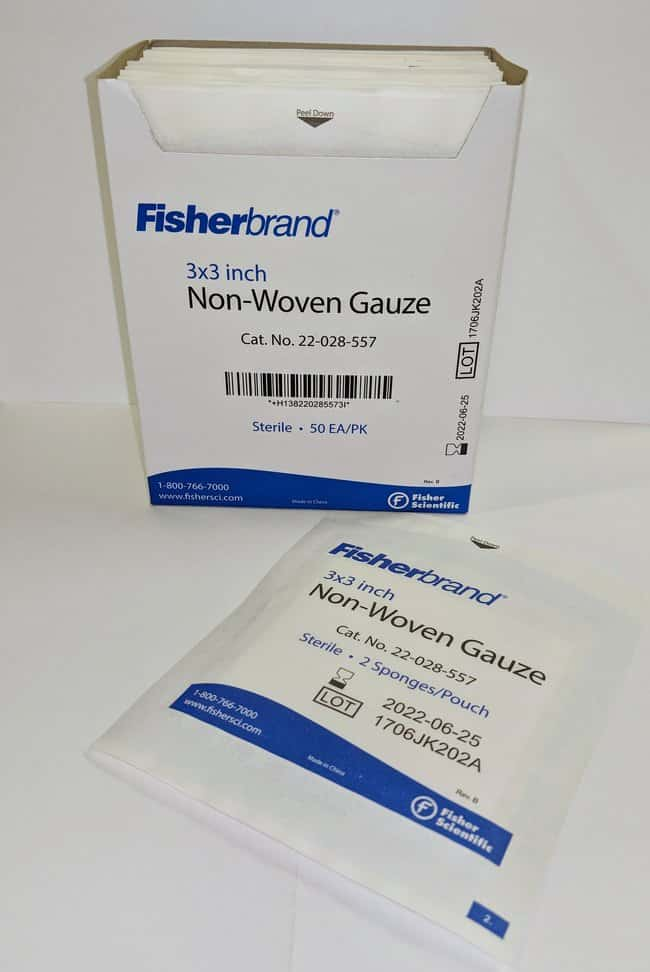 Fisherbrand Nonwoven Gauze Sponges:Gloves, Glasses and Safety:First Aid
