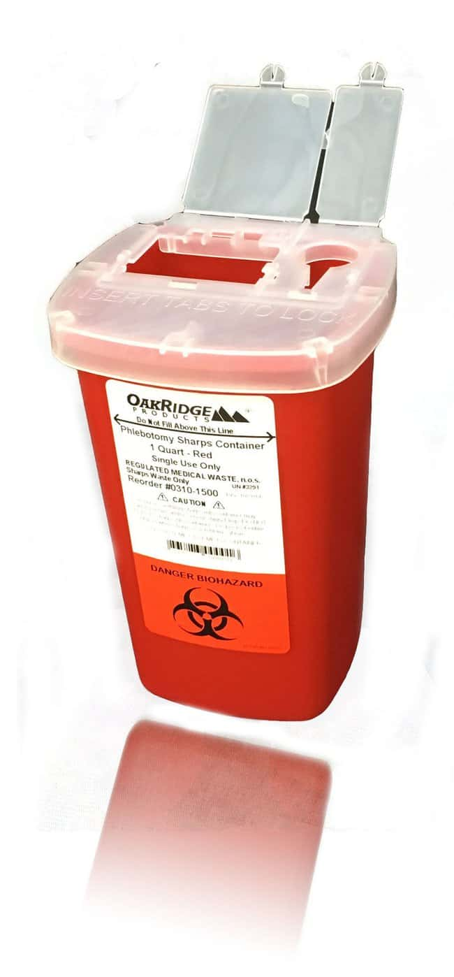 Oak RidgePhlebotomy Sharps Container with Flip Lid