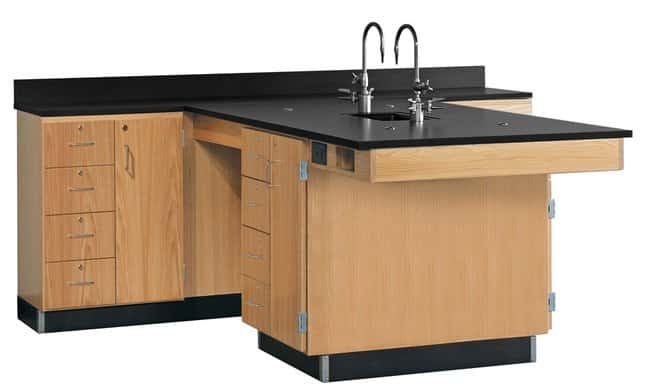 Diversified Woodcrafts Perimeter Workstations with Sink   Solid phenolic