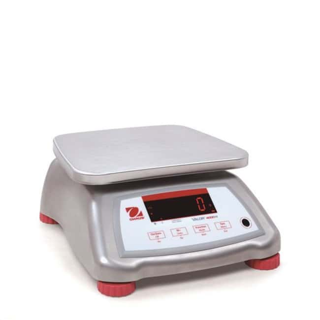 Ohaus™ Valor™ 4000 Compact Bench Scales Model: V41XWE3T; Capacity: 3kg; Readability: 0.0005kg; Stainless steel top/platform, ABS housing Ohaus™ Valor™ 4000 Compact Bench Scales