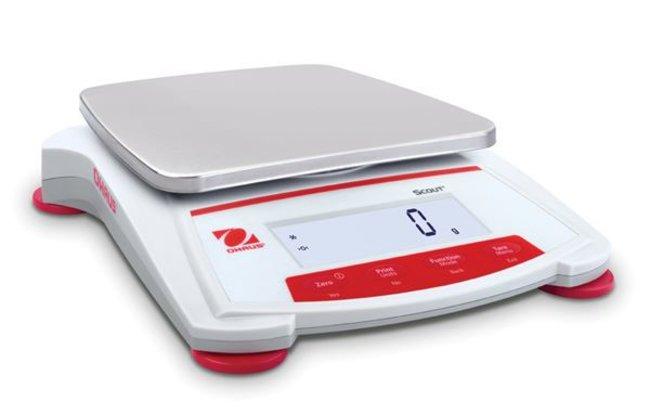 OHAUS™Scout™ STX Portable Precision Balances Model: SKX8200; Capacity: 8200g; Readability: 1g; w/o Draftshield OHAUS™Scout™ STX Portable Precision Balances