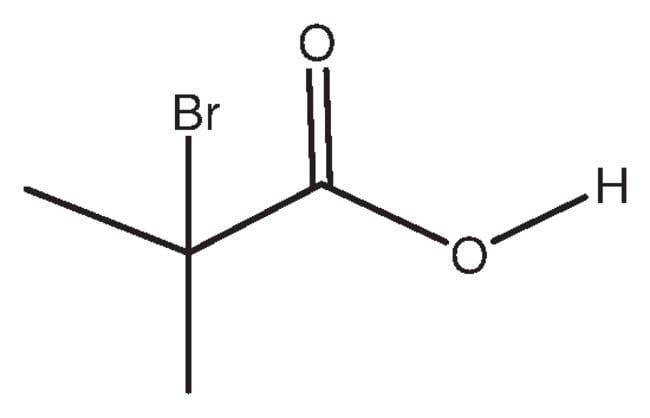 2-Bromo-2-methylpropionic acid, 98%, ACROS Organics™ 500g; Glass bottle 2-Bromo-2-methylpropionic acid, 98%, ACROS Organics™