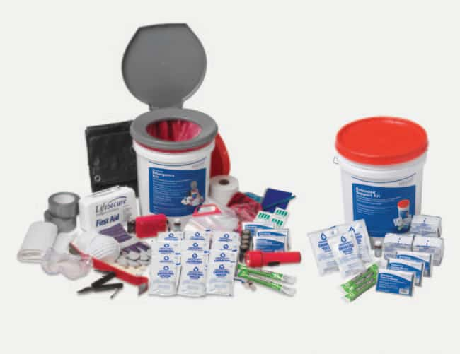 LifeSecure Complete 25-Person 1-Day Shelter-In-Place Combo Emergency Kit