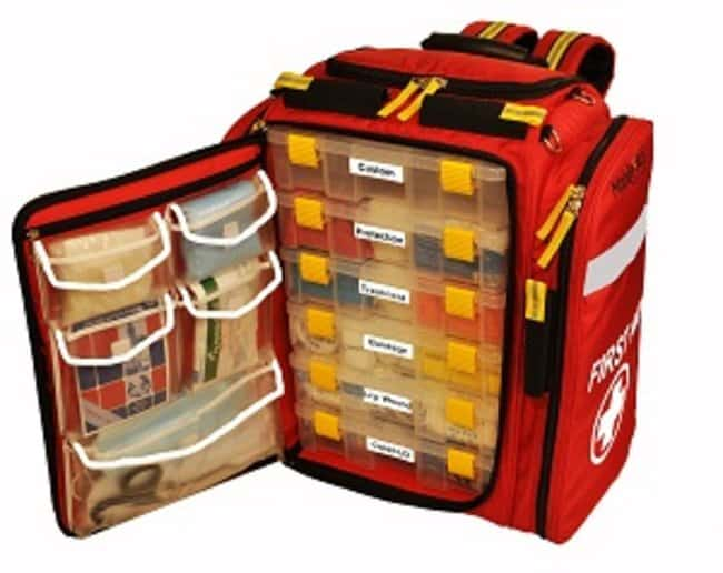 LifeSecure MobileAid XL 100 Trauma First Aid Backpack Kit  Material: Polyester:First