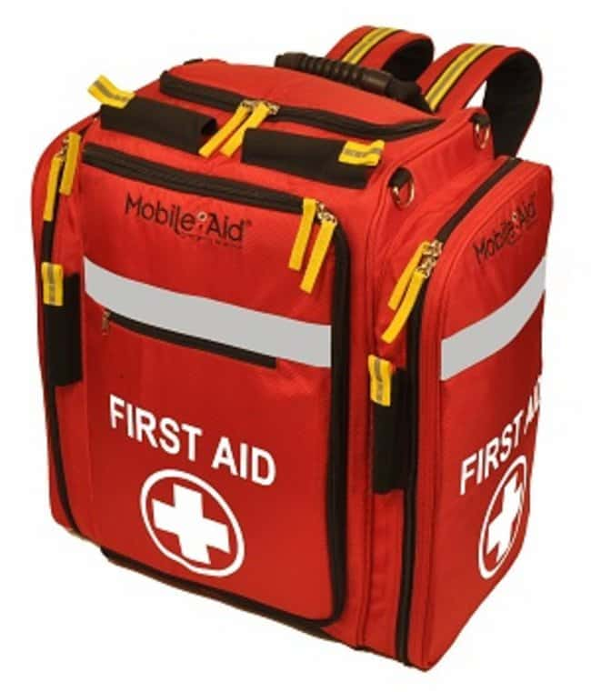 LifeSecure MobileAid XL First Aid Backpack Material: Polyester:First Responder
