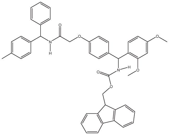 Rink amide benzhydrylamine polymer resin, 1% crosslinked with DVB, 0.5mmol/g,
