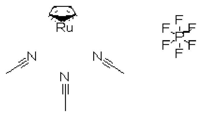 Tris(acetonitrile)cyclopentadienylruthenium(II) hexafluorophosphate, 98%, ACROS Organics™ 1g; Glass bottle Tris(acetonitrile)cyclopentadienylruthenium(II) hexafluorophosphate, 98%, ACROS Organics™