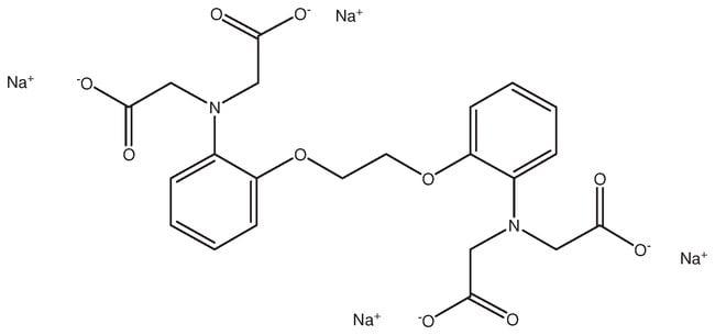 1,2-Bis(2-aminophenoxy)-ethane-N,N,N',N'-tetraacetic acid, tetrasodium salt hydrate, 95%, ACROS Organics™ 1g; Glass bottle 1,2-Bis(2-aminophenoxy)-ethane-N,N,N',N'-tetraacetic acid, tetrasodium salt hydrate, 95%, ACROS Organics™