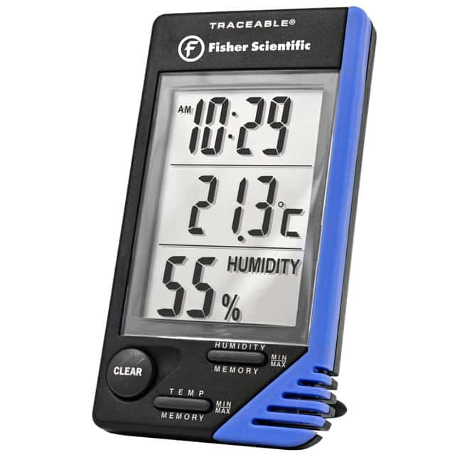 Fisherbrand Traceable Thermometer Clock Humidity Monitor