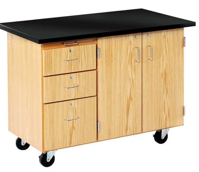 Diversified Woodcrafts Mobile Desk With Storage Teaching Supplies Clroom Furniture