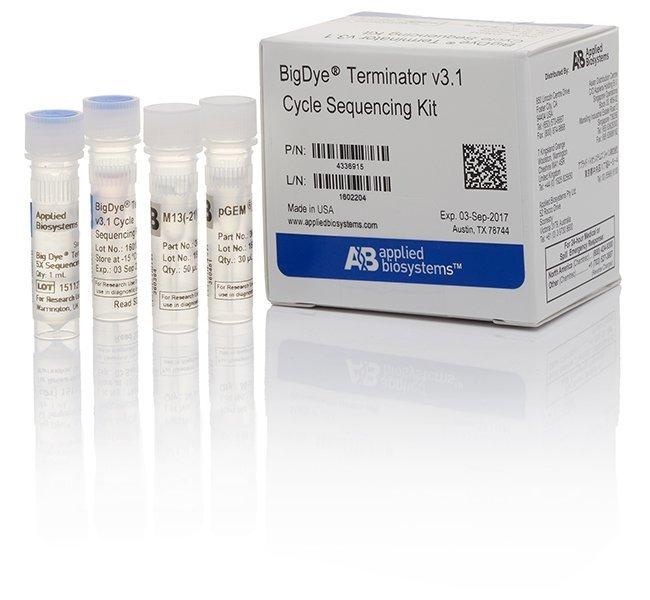 Applied BiosystemsBigDye Terminator v3.1 Cycle Sequencing Kit:Biochemical