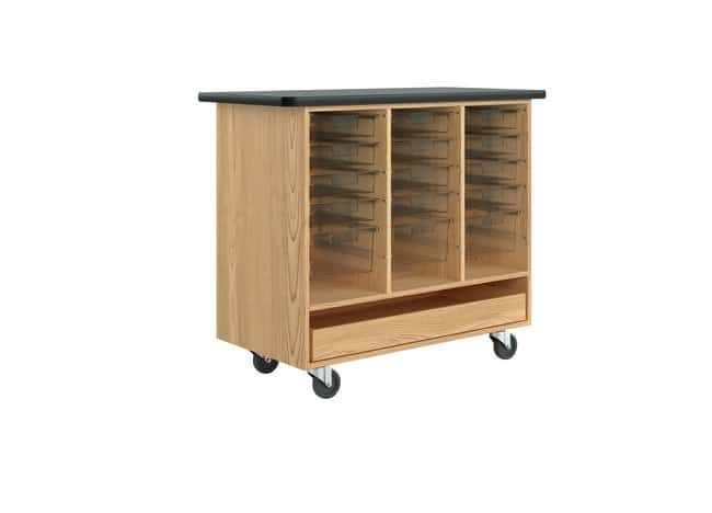 Diversified Woodcrafts Mobile Tote Storage Cabinet :Teaching Supplies:Classroom