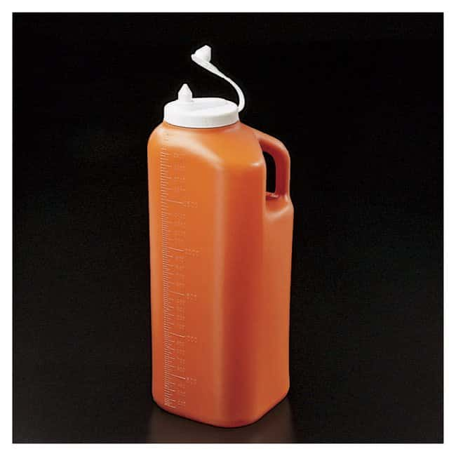Fisherbrand SAFE-D-Spense 24-Hour Urine Container Amber; 3000mL; Graduated:Gloves,