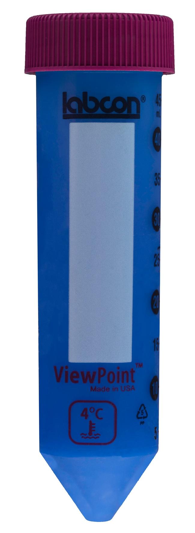Labcon50 mL ViewPoint™ Centrifuge Thermochromic Tubes 10tubes par sachet IntegraPack™; non stérile Labcon50 mL ViewPoint™ Centrifuge Thermochromic Tubes