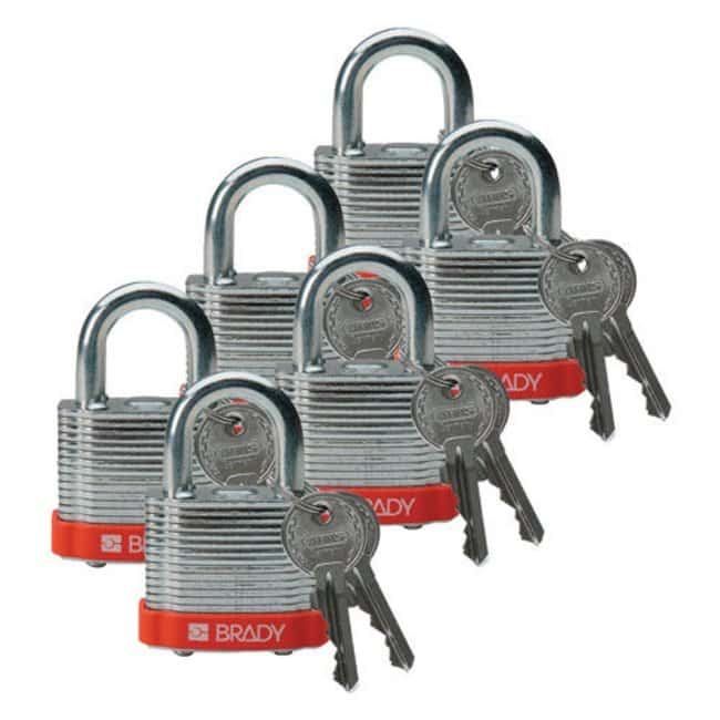 Brady Keyed-Different Steel Padlocks with 0.75 in. Shackle Locks Orange;