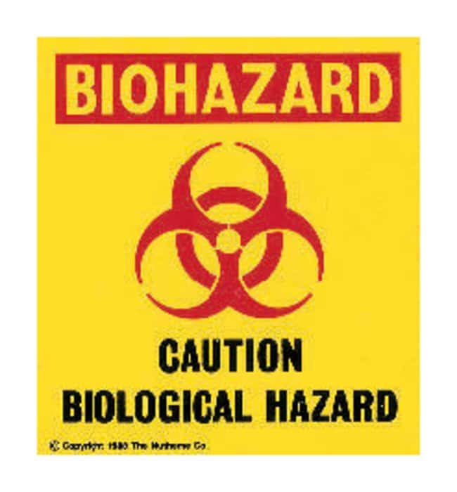 Nutheme CautionBiological Hazard Warning Sign and Pressure-sensitive Vinyl